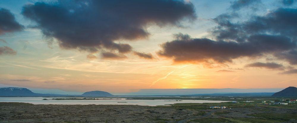 Sonnenuntergang am Myvatn