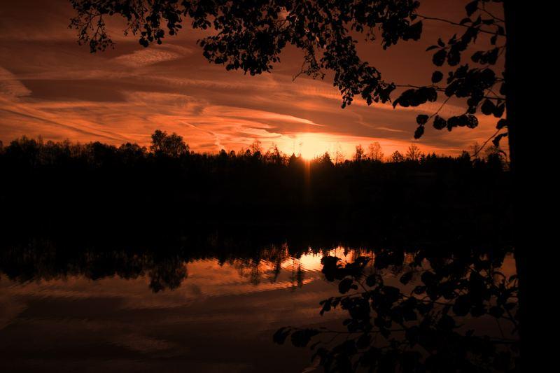 Sonnenuntergang am Nagler See