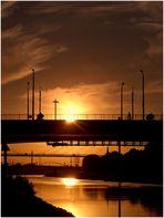 Sonnenuntergang am Neckar