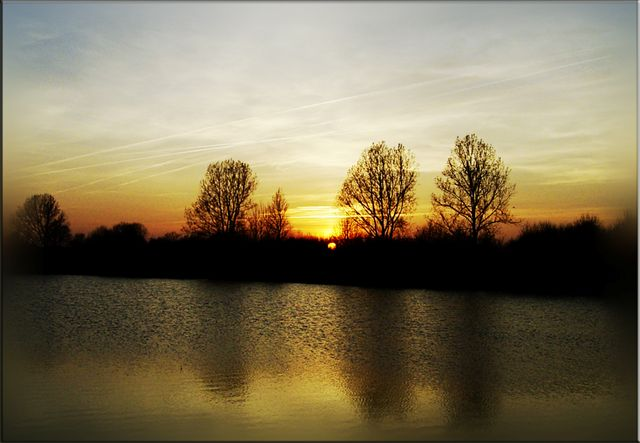 Sonnenuntergang am NOK