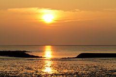 Sonnenuntergang am Norddeich