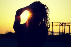 Sonnenuntergang am Olymp