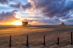 Sonnenuntergang am Ordinger Strand 2