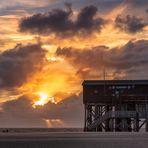 Sonnenuntergang am Ordinger Strand