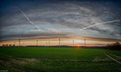 Sonnenuntergang am Ostersonntag II
