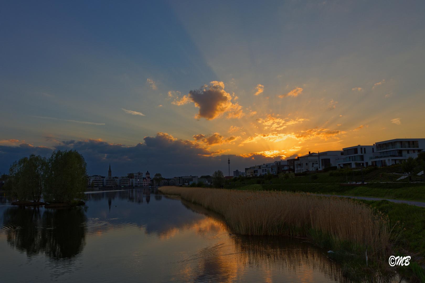 Sonnenuntergang am Phoenixsee