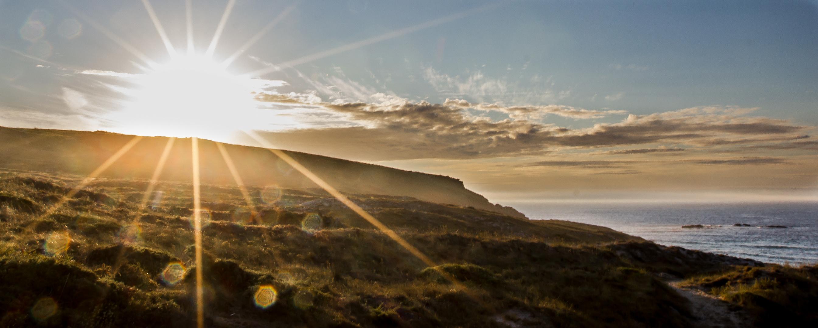 Sonnenuntergang am Playa Rostro/ Galicien