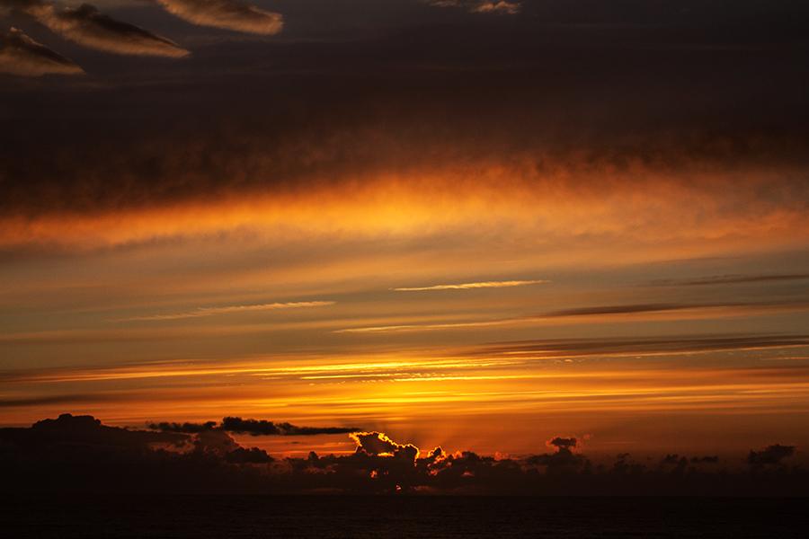 "Sonnenuntergang am Pointe du Van ""2"""