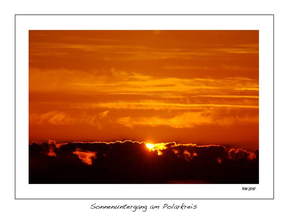 Sonnenuntergang am Polarkreis 1