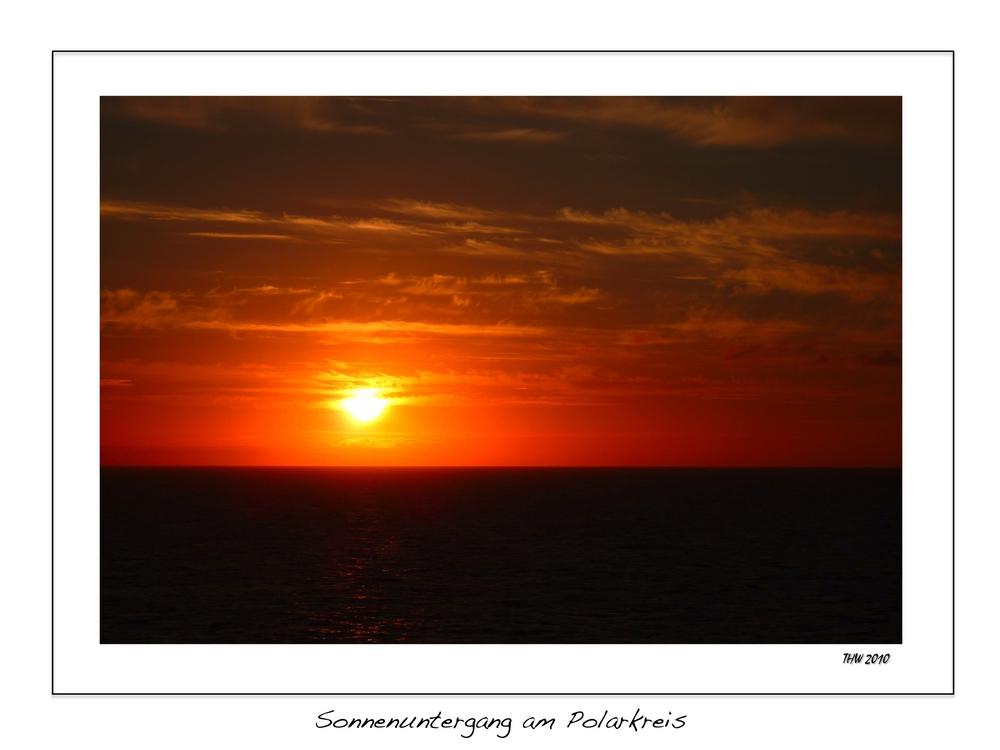 Sonnenuntergang am Polarkreis 3