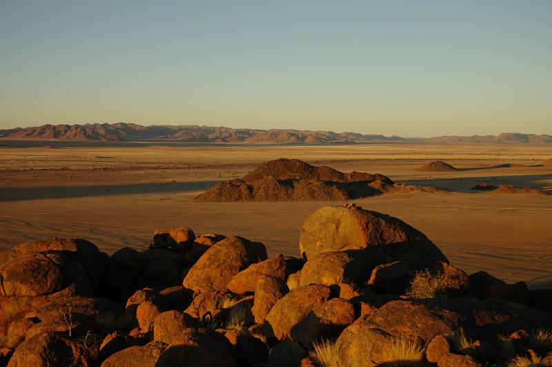 Sonnenuntergang am Rand der Namib