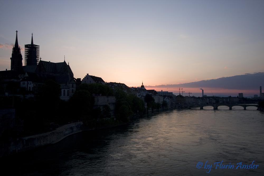 Sonnenuntergang am Rhein