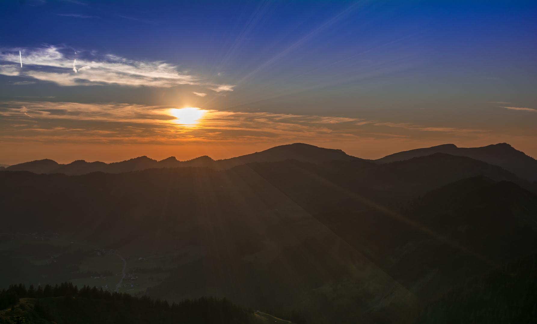 Sonnenuntergang am Riedberger Horn