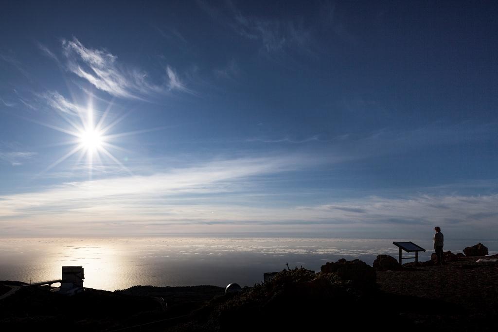 Sonnenuntergang am Roque de los Muchachos