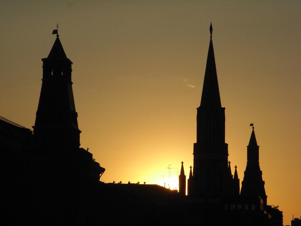Sonnenuntergang am Roten Platz