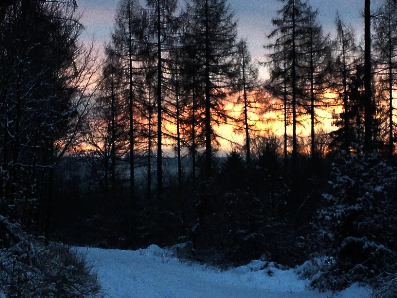Sonnenuntergang am Rotharsteig