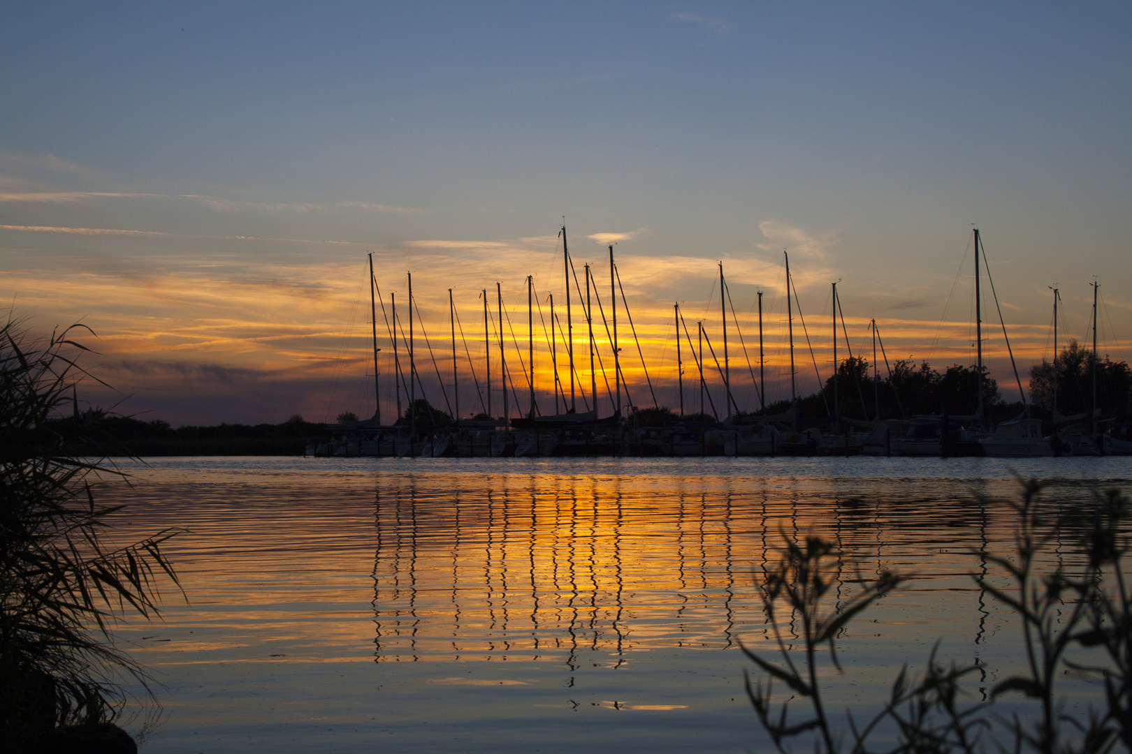 Sonnenuntergang am Ryck 2