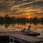 Sonnenuntergang am Saarufer