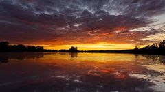 Sonnenuntergang am Sarchinger Weiher