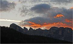 Sonnenuntergang am Sass Songher