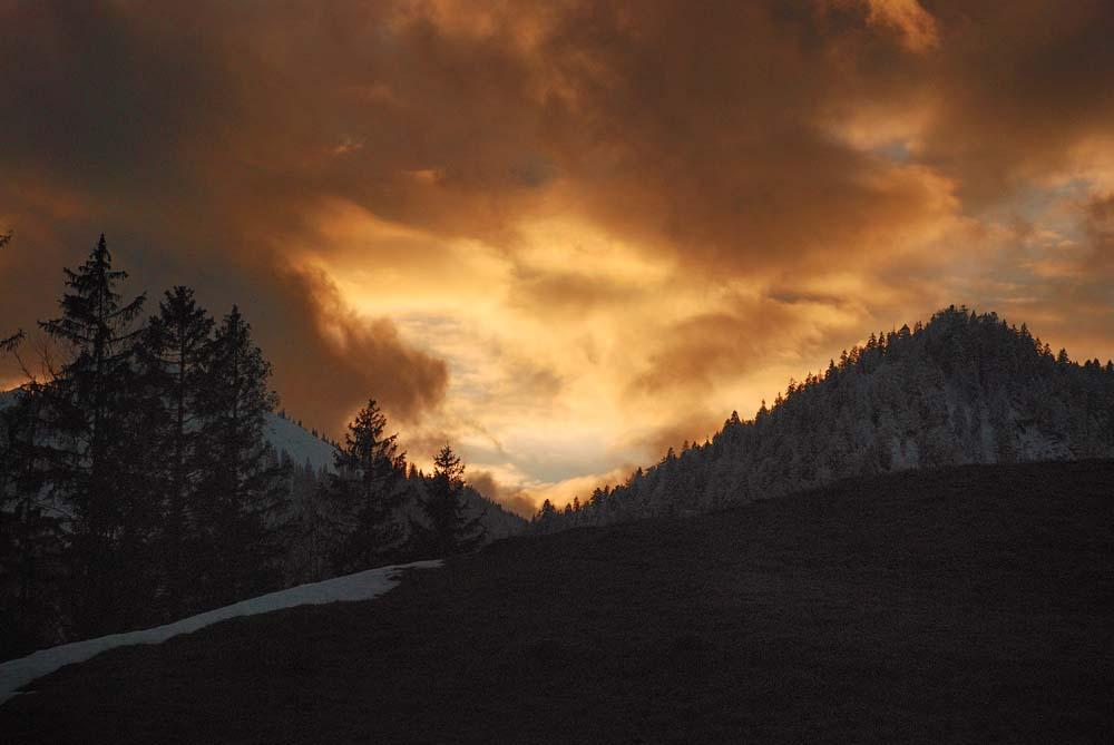 Sonnenuntergang am Schliersee