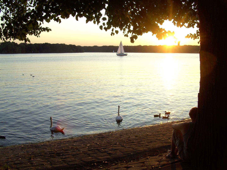 Sonnenuntergang am Schloss-Glienicke