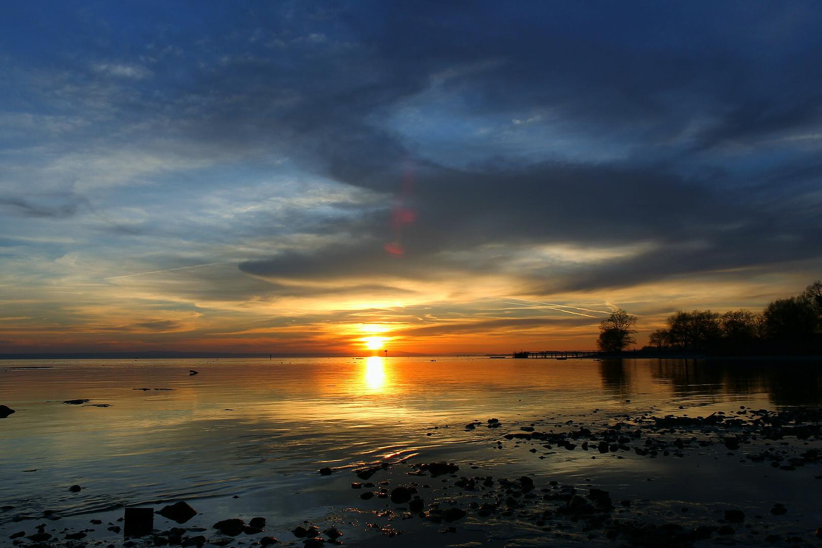 sonnenuntergang am schwabenmeer