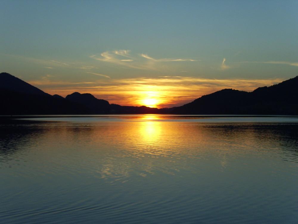 Sonnenuntergang am See.....