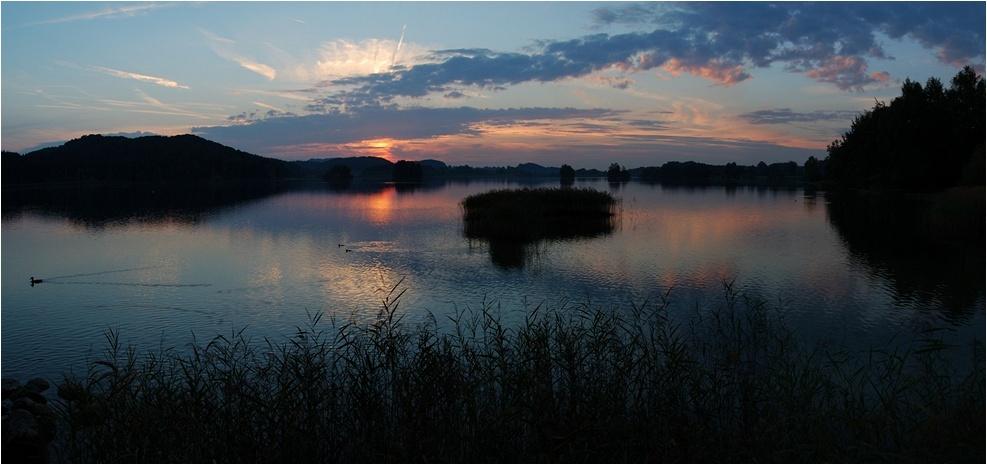 Sonnenuntergang am Seehamer See II (Panorama)