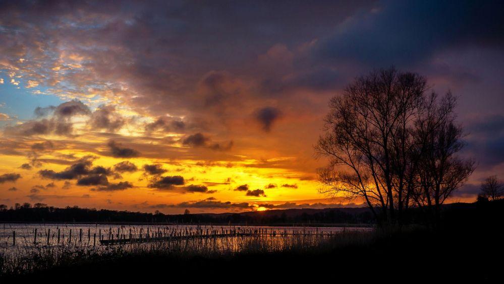 Sonnenuntergang am Selliner See