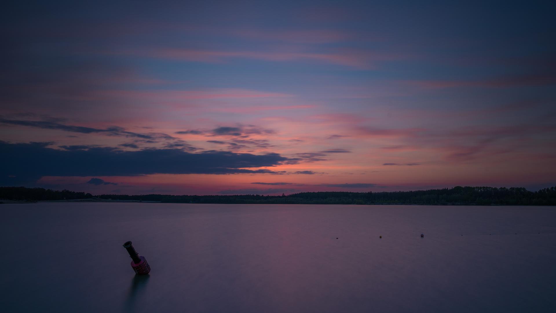 Sonnenuntergang am Silbersee