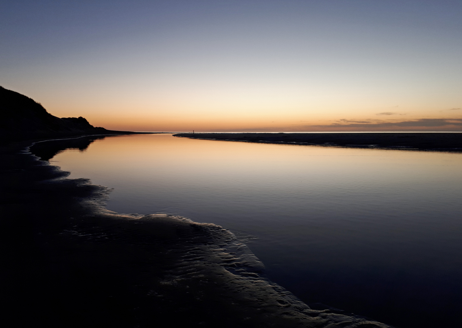 Sonnenuntergang am Slufter