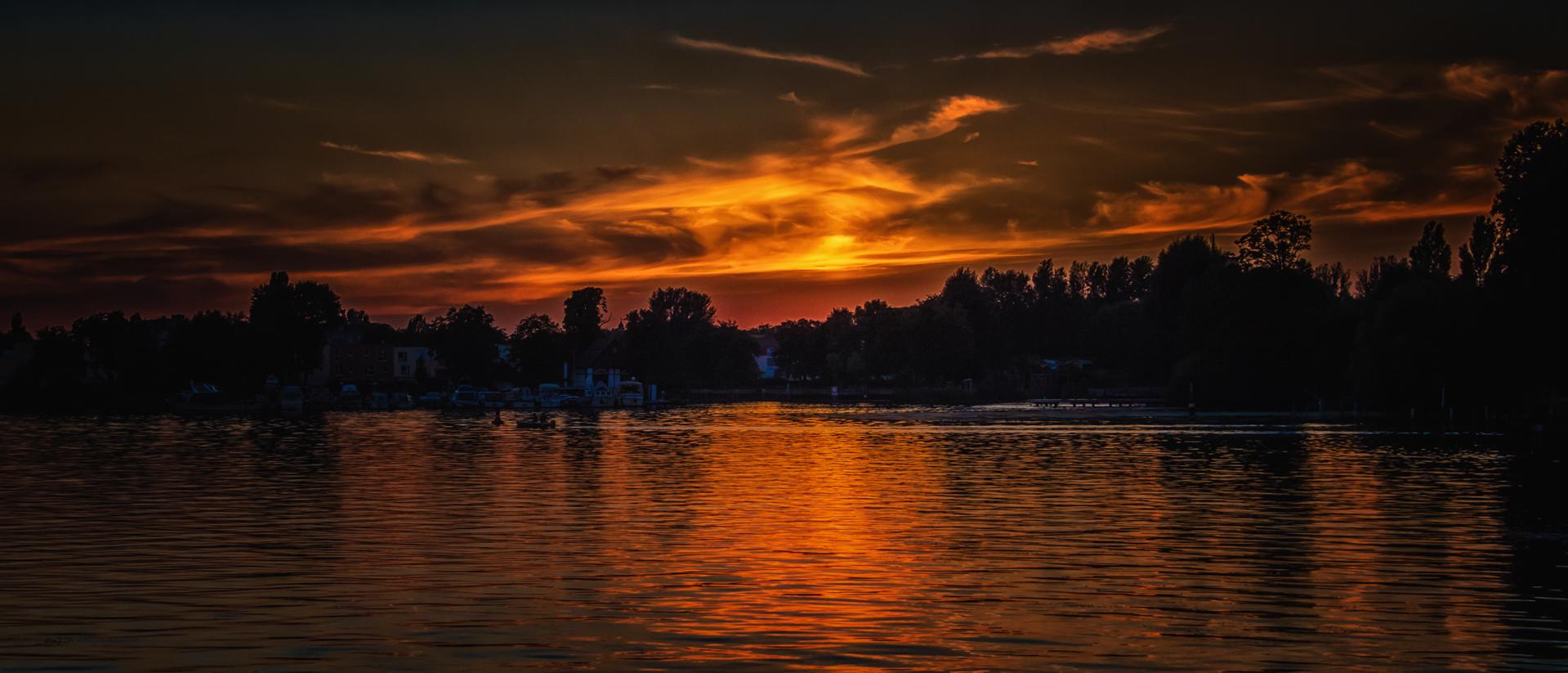 Sonnenuntergang am Spandauer See