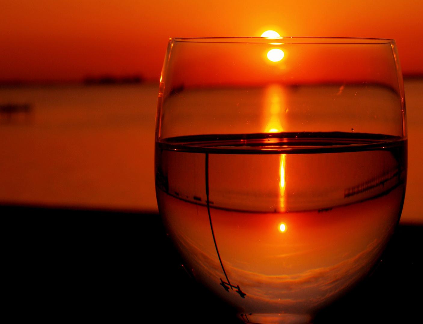 Sonnenuntergang am Steinhuder Meer...mal anders