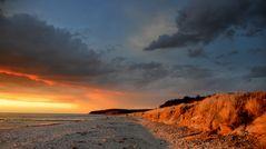 Sonnenuntergang am Strand 26.Aprill 2012