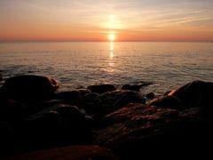 Sonnenuntergang am Strand von Blavand