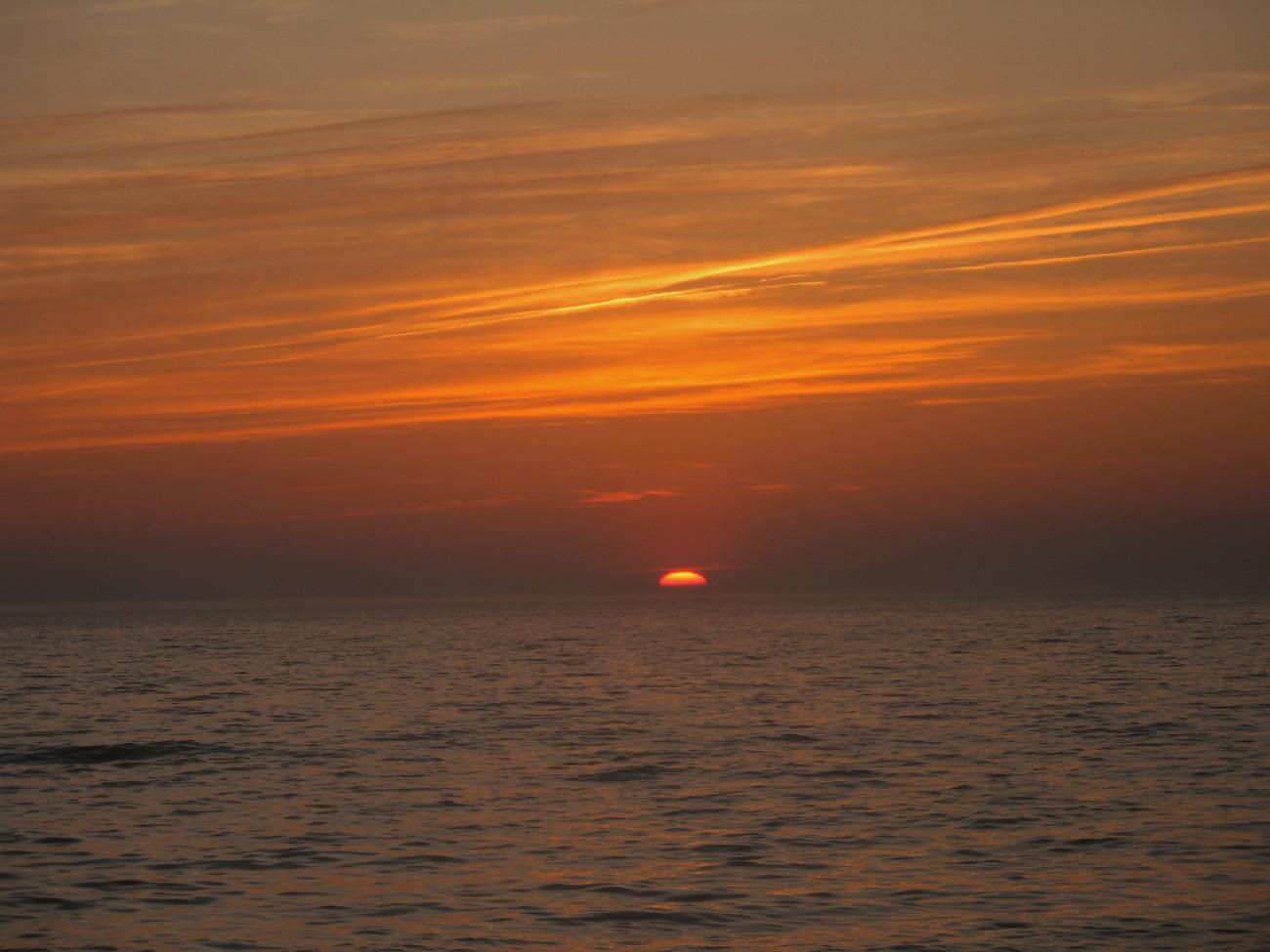 Sonnenuntergang am Strand von Püttsee