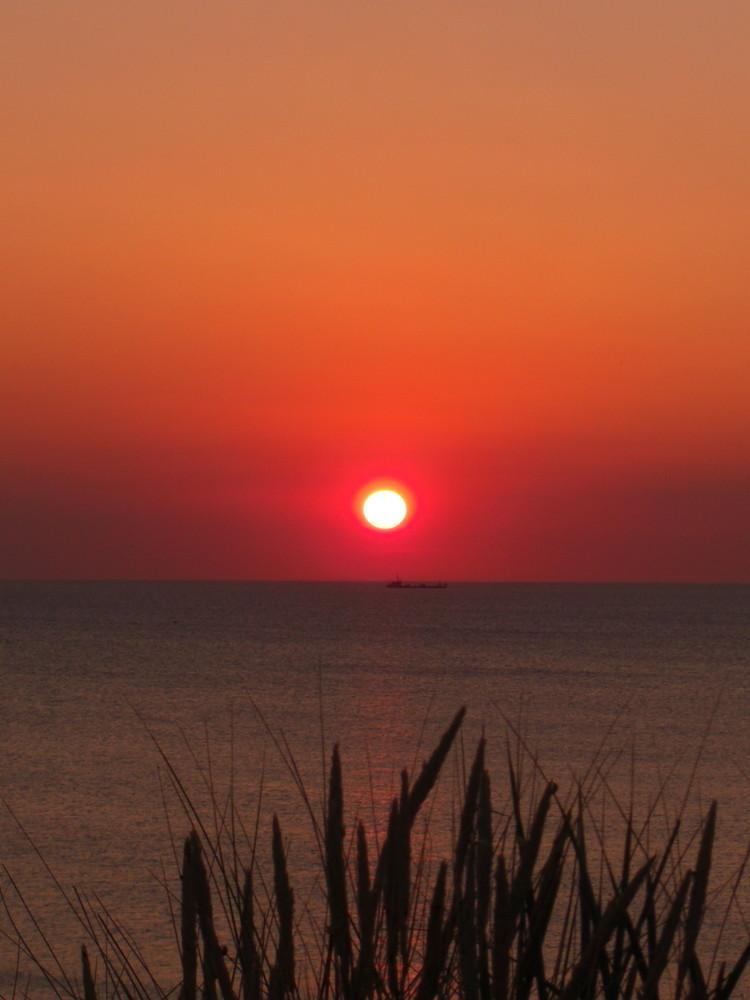 Sonnenuntergang am Strand von Wenningstedt