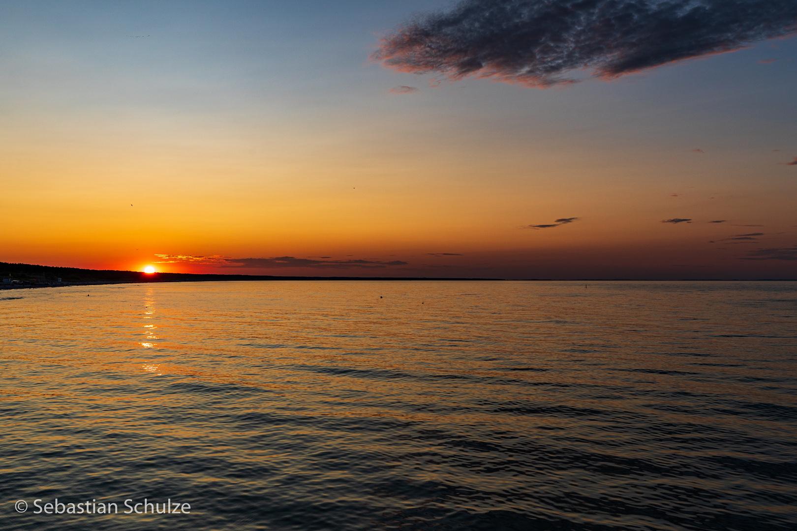 Sonnenuntergang am Strand Zinnowitz