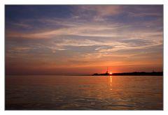 Sonnenuntergang am Südstrand