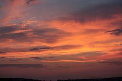 Sonnenuntergang am Tag der Mondfinsternis