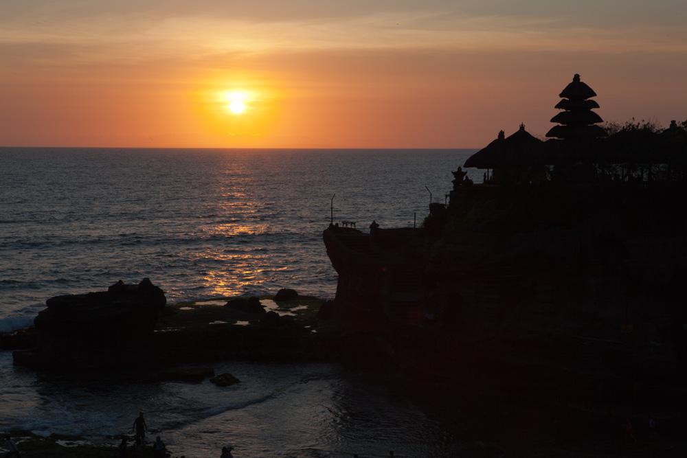 Sonnenuntergang am Tana Lot