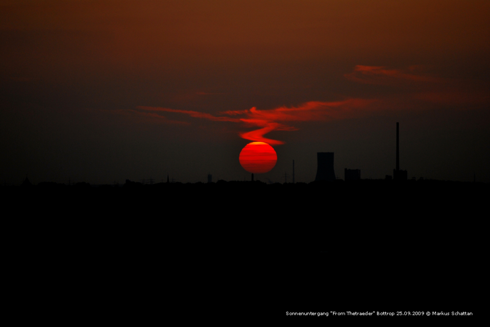 "Sonnenuntergang am ""Tetraeder"""