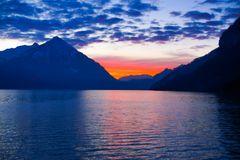 Sonnenuntergang am Thunersee