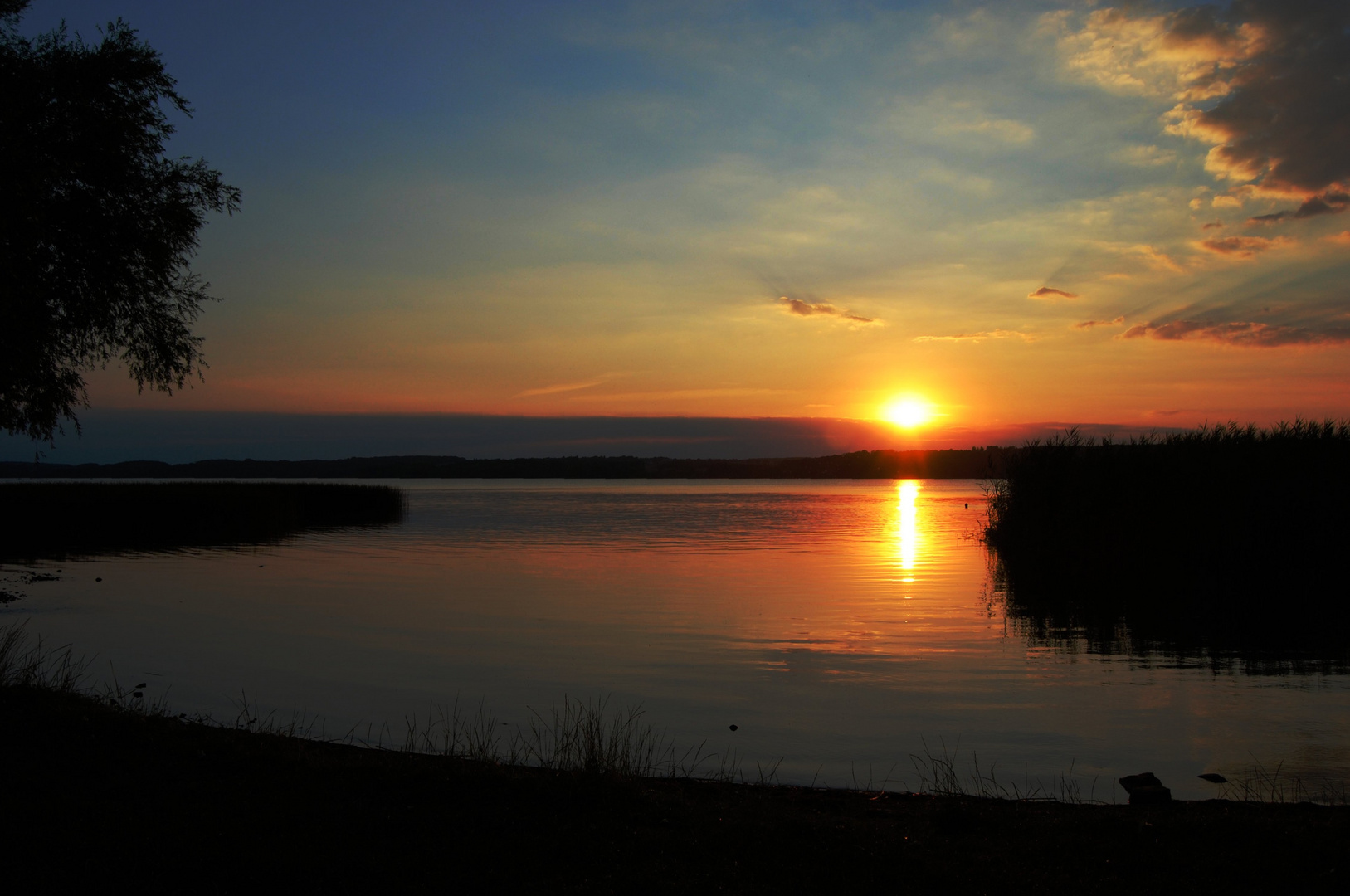 Sonnenuntergang am Tollensesee III