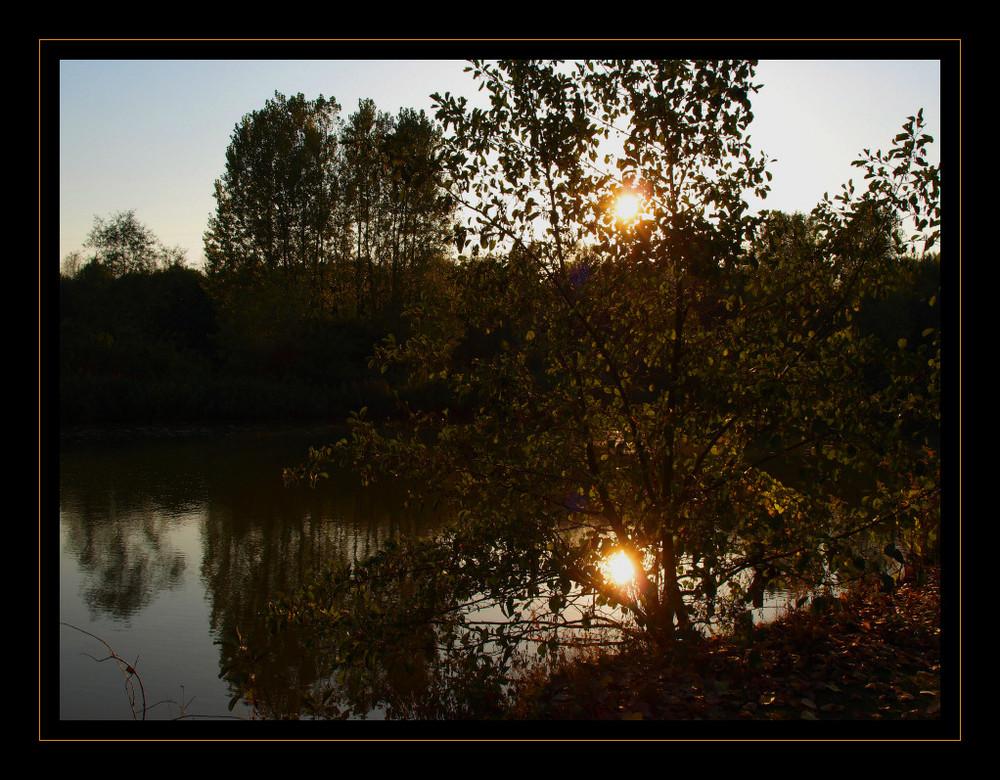 Sonnenuntergang am Ümmingersee