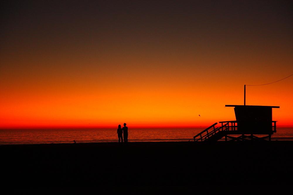 Sonnenuntergang am Venice Beach