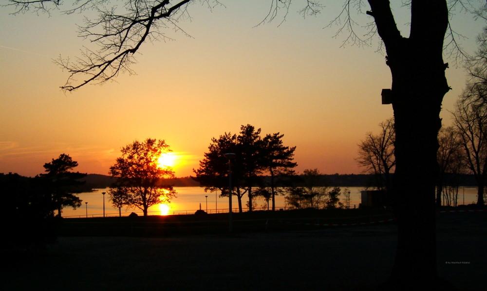 Sonnenuntergang am Wannsee