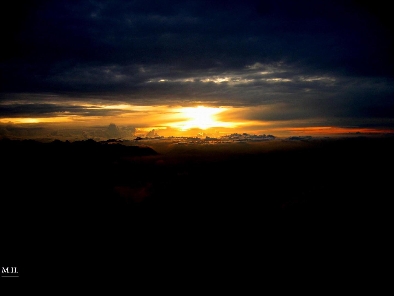 Sonnenuntergang am Wendelstein