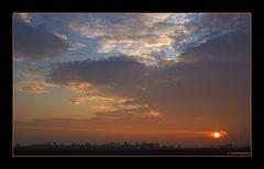 Sonnenuntergang an der B 20...